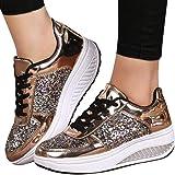 JiaMeng Cuñas Zapatillas de Deporte Lentejuelas Zapatos Shake Moda Chicas Calzado…