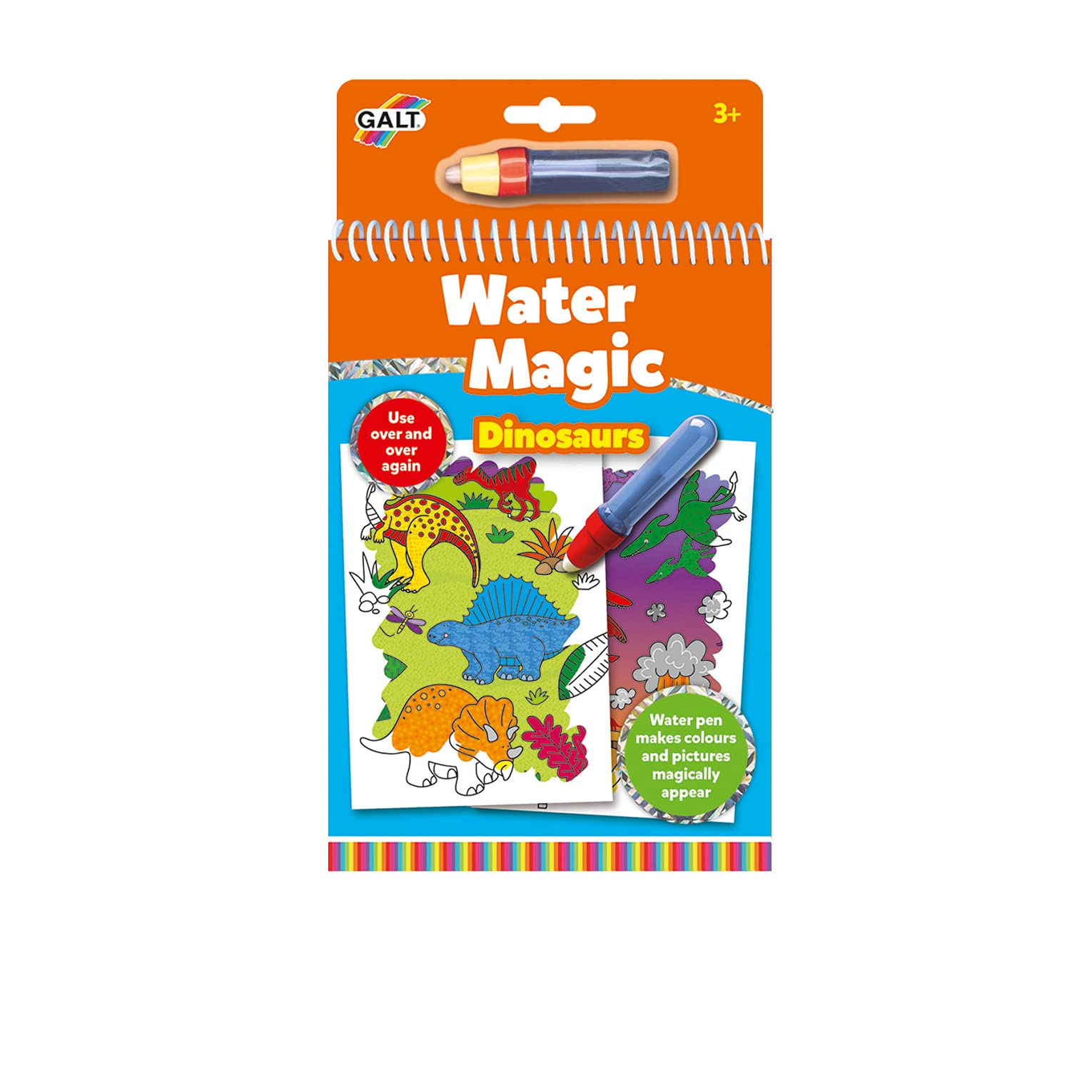 Galt Toys, Water Magic - Dinosaurs, Colouring Book for Children, Ages 3 Years Plus