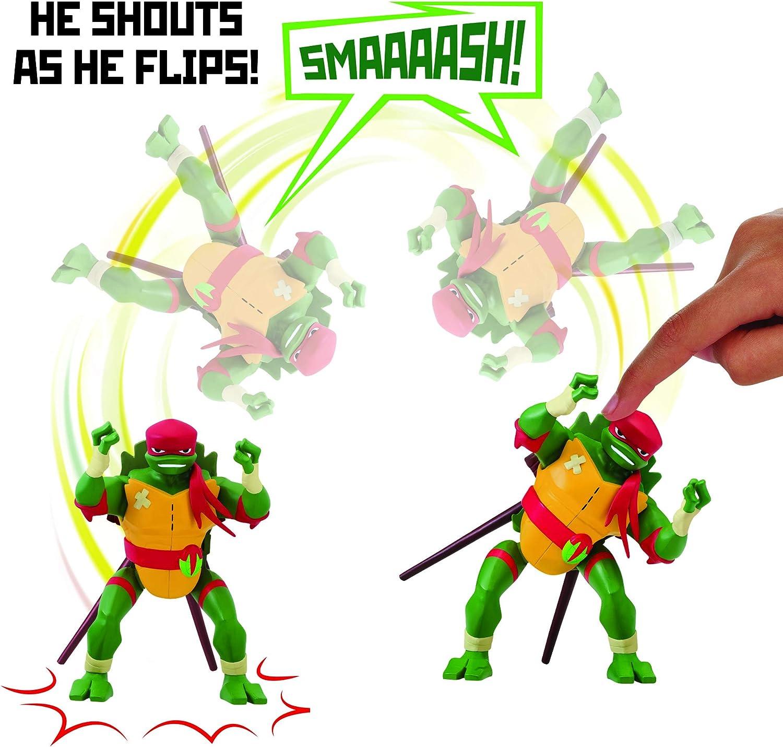 Rise of the Teenage Mutant Ninja Turtles Raphael Side Flip Ninja Attack Deluxe Figure