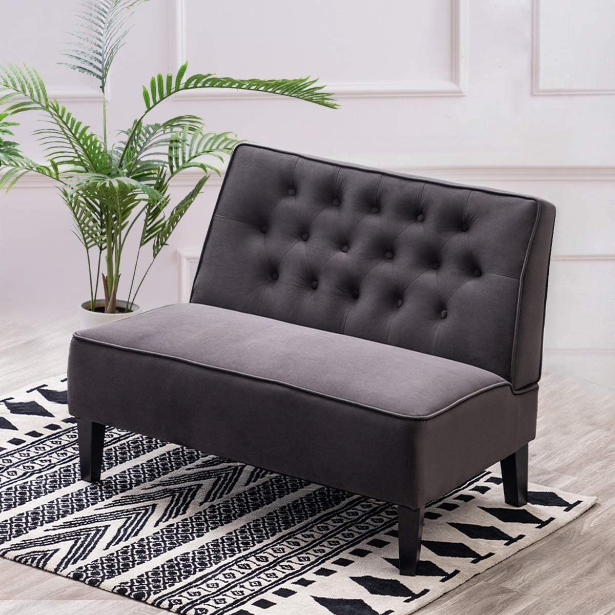 Alunaune Upholstered Settee Loveseat Bench