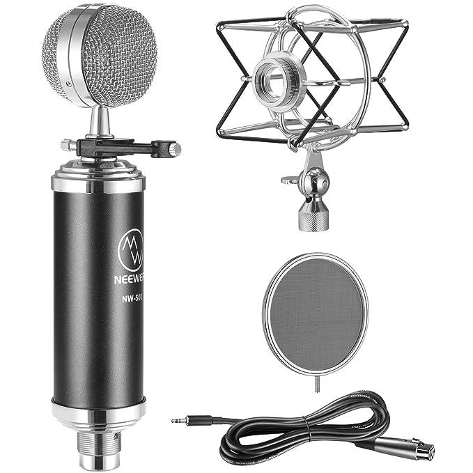 2 opinioni per Neewer NW-500 Kit di Microfono a Condensatore Professionale: (1) Microfono a