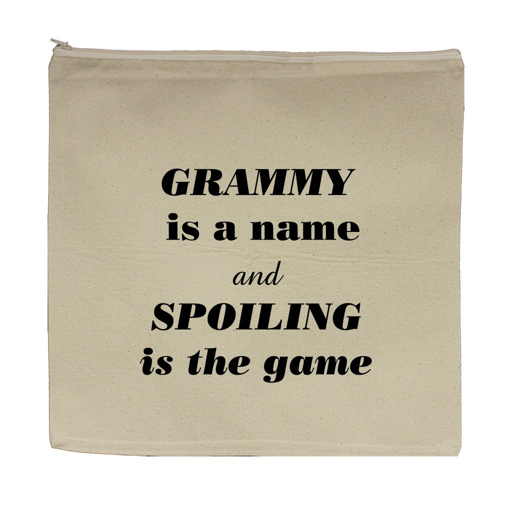 Grammy Is The Name Spoiling Is The Game Canvas Zipper Tote Bag Makeup Bag