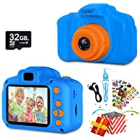OZMI Upgrade Kids Selfie Camera, Christmas Birthday Gifts for Boys Age 3-12, Children Digital Cameras 1080P 2 Inch…