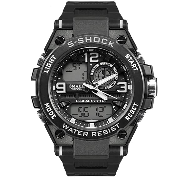 Beydodo Reloj Quartz Relojes Electronicos Reloj Hombre Moda Reloj Hombre Reloj Deportivo Reloj Impermeable Negro Blanco: Amazon.es: Relojes