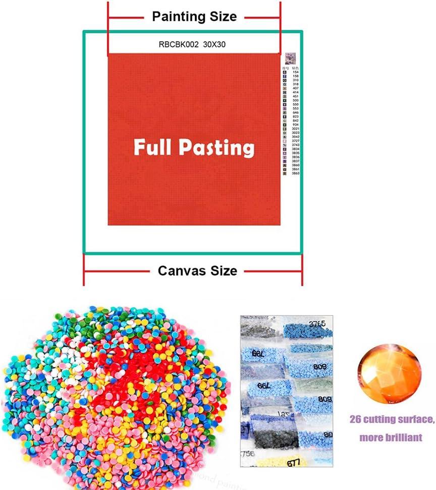 5D Diamant Gem/älde Kreuzstich Kits DIY handgefertigt Full Drill Kunstharz Diamant Stickerei Mosaik mit Macht Tools Set f/ür Home Wohnzimmer Dekoration Stil 1 30x30cm