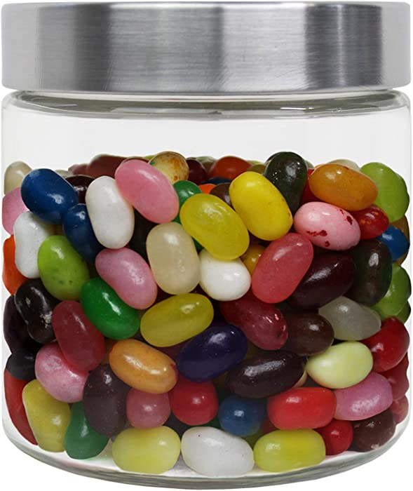 Blue Donuts 23 Oz Glass Jars with Stainless Steel Lids Airtight - Glass Kitchen Canisters, Glass Containers for Food Storage with Lids, Airtight Food Storage Containers for Pantry, 700 ML Clear Jars