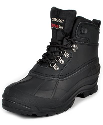 Amazon.com | Men's Comfoot Thermolite Waterproof Snow Boots | Snow ...