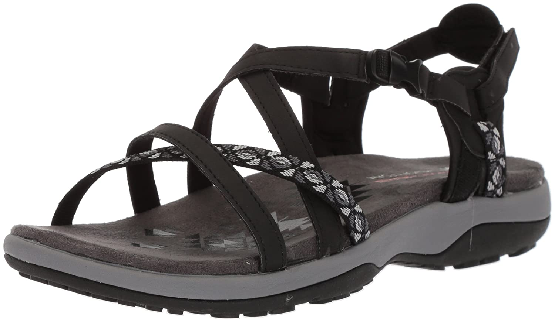 Skechers Women's Reggae Slim-Vacay Sandals B0756BH11C 5 W US|Black