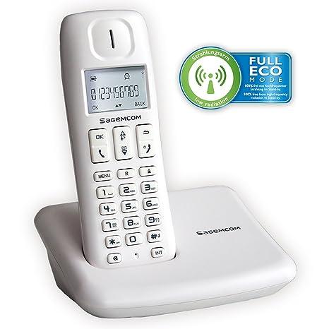 Sagemcom D142W - Teléfono fijo analógico (Con 50 entradas de ...
