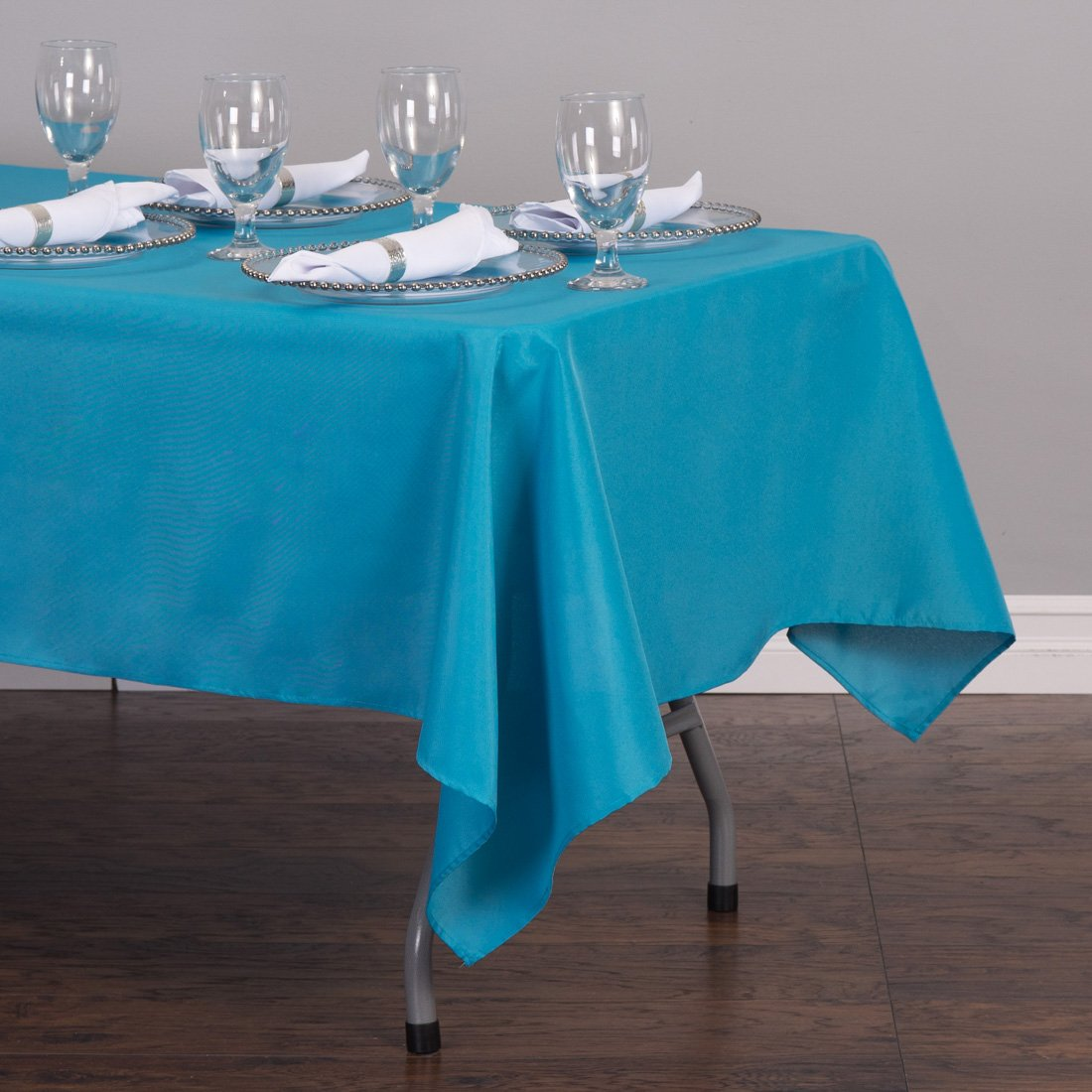 Genial Amazon.com: LinenTablecloth 60 X 126 Inch Rectangular Polyester Tablecloth  Turquoise: Home U0026 Kitchen