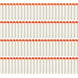 AMOSTING 100Pcs Refill Darts for Nerf N-Strike Elite Modulus Glow at Dark Bullets - White