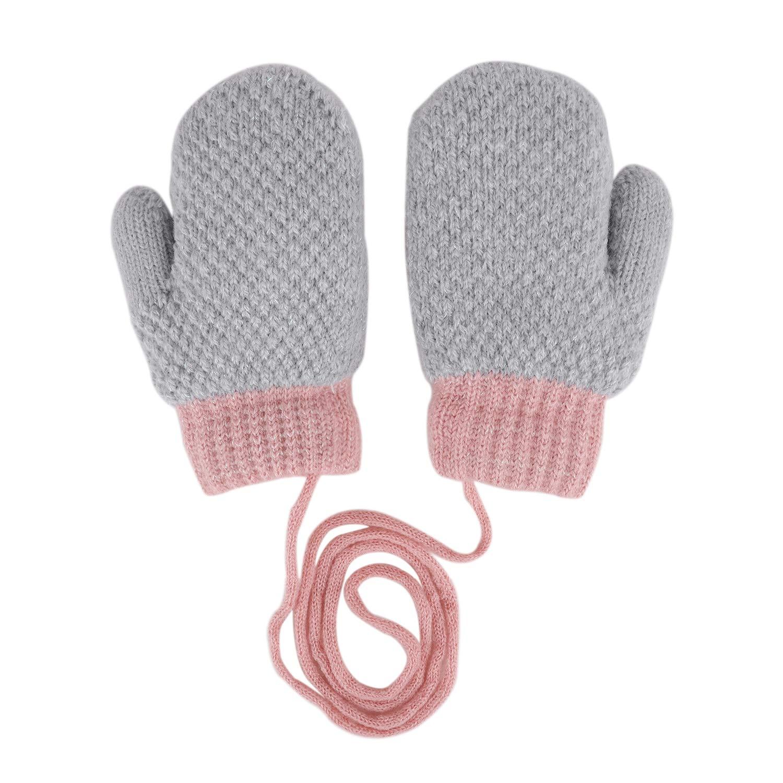 FakeFace Guanti invernali per bambini 6 anni termici con dita intere invernali idea regalo per Natale per 2 morbidi e spessi caldi e isolanti caldi e caldi con fodera in pile