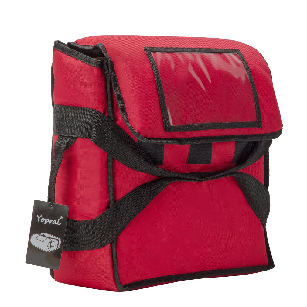 Yopralbags Insulated Food Delivery Bag Pizza Boxes Professional Warmer Carrier Moisture Free for 4-16'' or 3-18'' (Red, 20''X20''X9'') by yopralbags (Image #4)