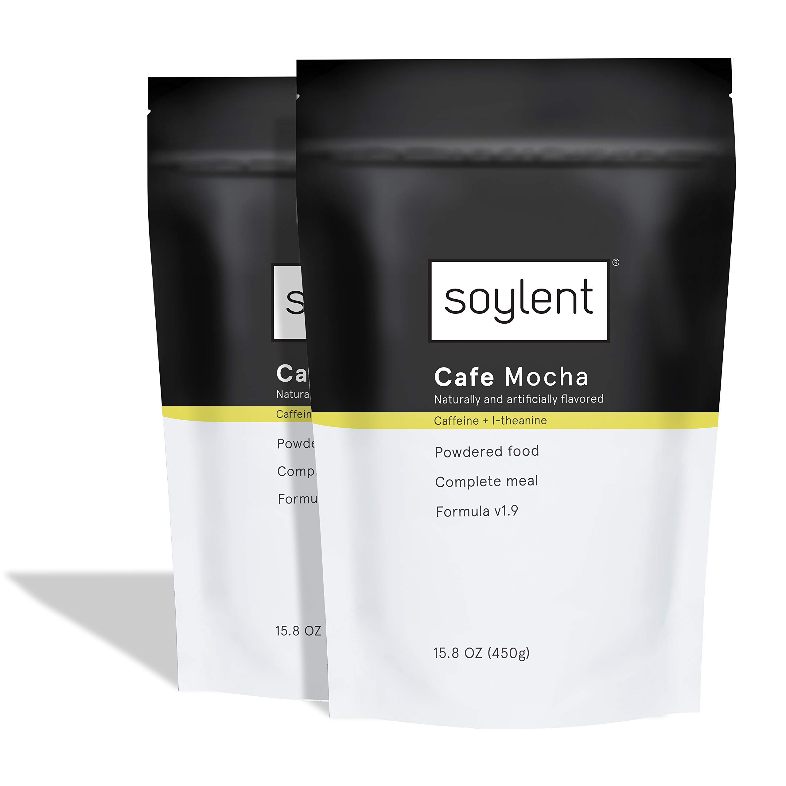 Soylent Cafe Mocha Meal Replacement Powder / Protein Powder, 2 Count Pouch, 15.8 Ounce (Pack of 2) by Soylent