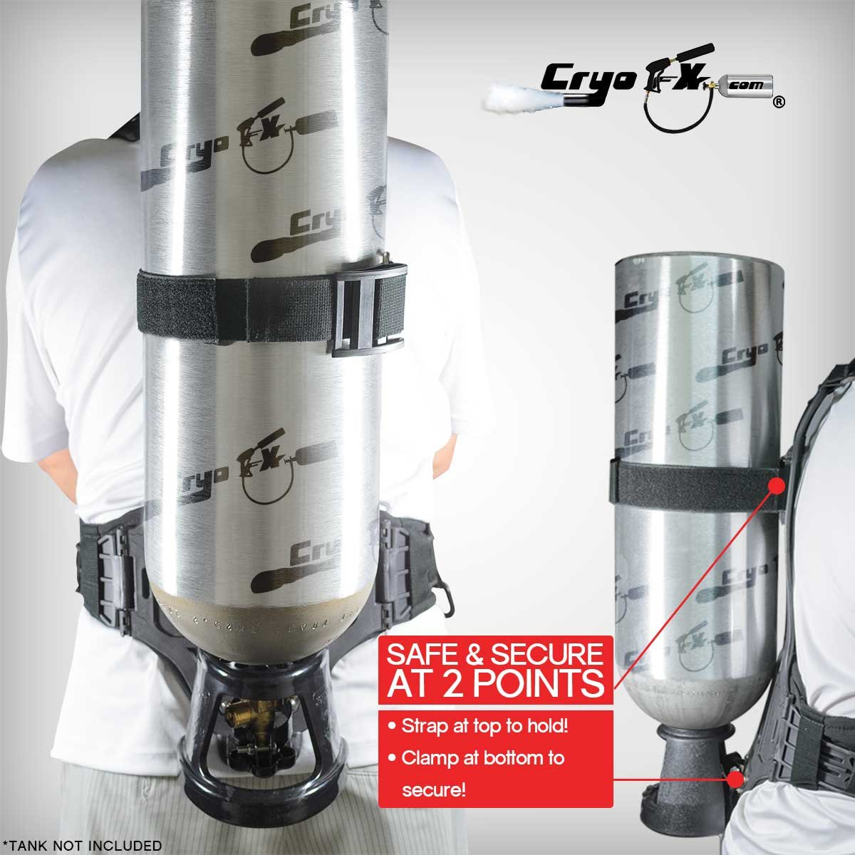 CryoFX Cryo Backpack - CO2 Cylinder Backpack Holder, Special Effects by CryoFX