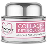 L'amore Beauty Collagen Retinol Cream (30mL) Anti-Aging Day and Night Facial | Age Defying Skincare Firms and Lifts Wrinkles, Fine Lines | Hydrating Face, Neck, Décolleté Moisturizer