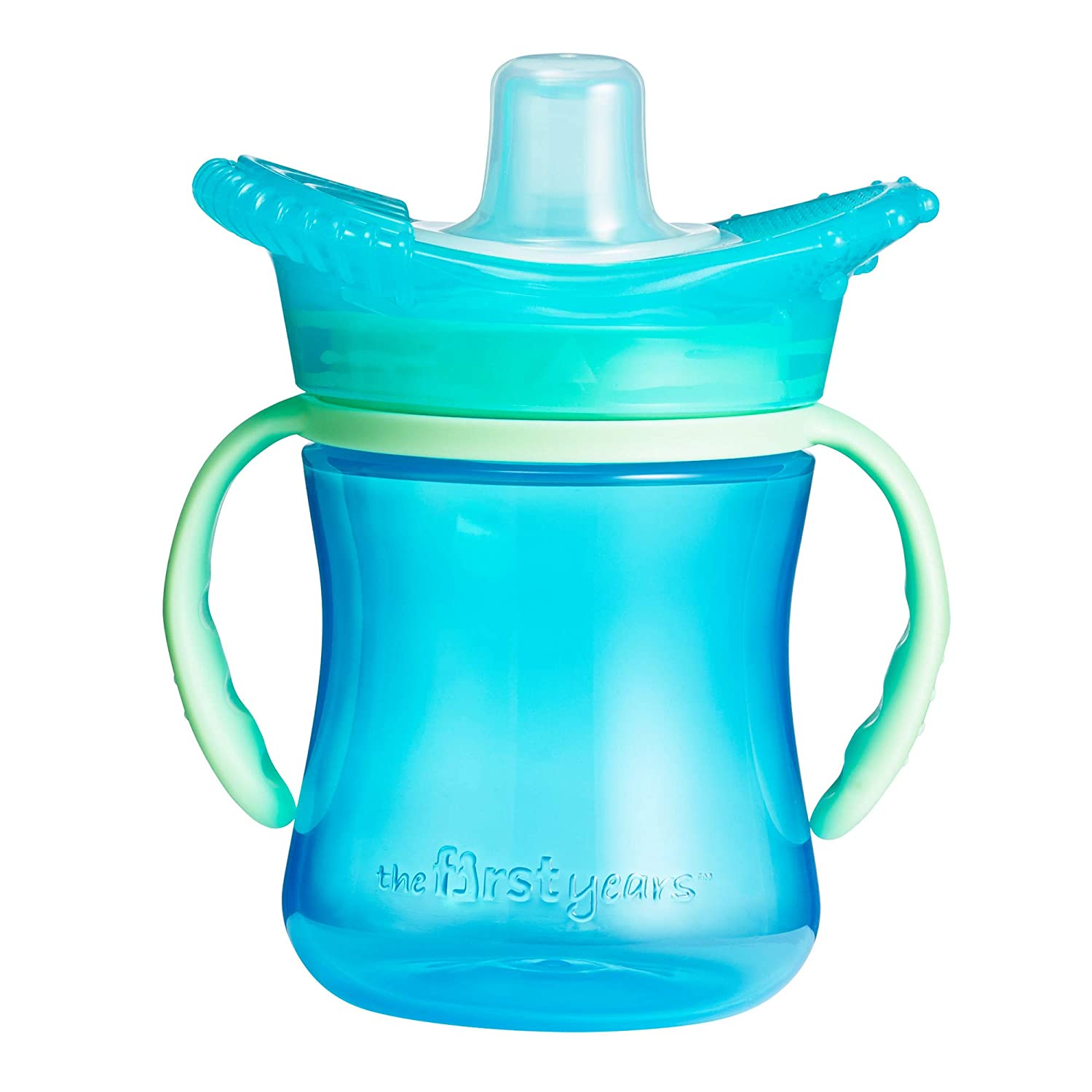 The First Years Teethe Around Sensory Trainer Sippy Cup, Blue