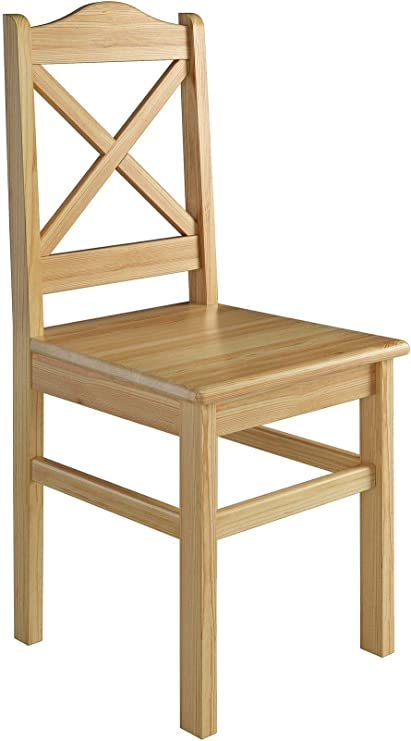 Erst Holz® Küchenstuhl Massivholzstuhl Esszimmerstuhl Kiefer 2X Stühle 90.71 20 D