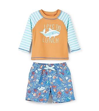 d3d472beab Hatley Baby Boys Rash Guard Swimsuit Sets, Ocean Animals, 3-6 Months