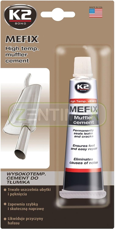 Zentimex Hochtemperatur Auspuff Zement Auspuff Dichtmasse Reparatur Masse Reparatur Zement Montagepaste Dichtstoff Abgasanlage Gasdicht Hochtemperaturbeständig 132g 816 C Auto