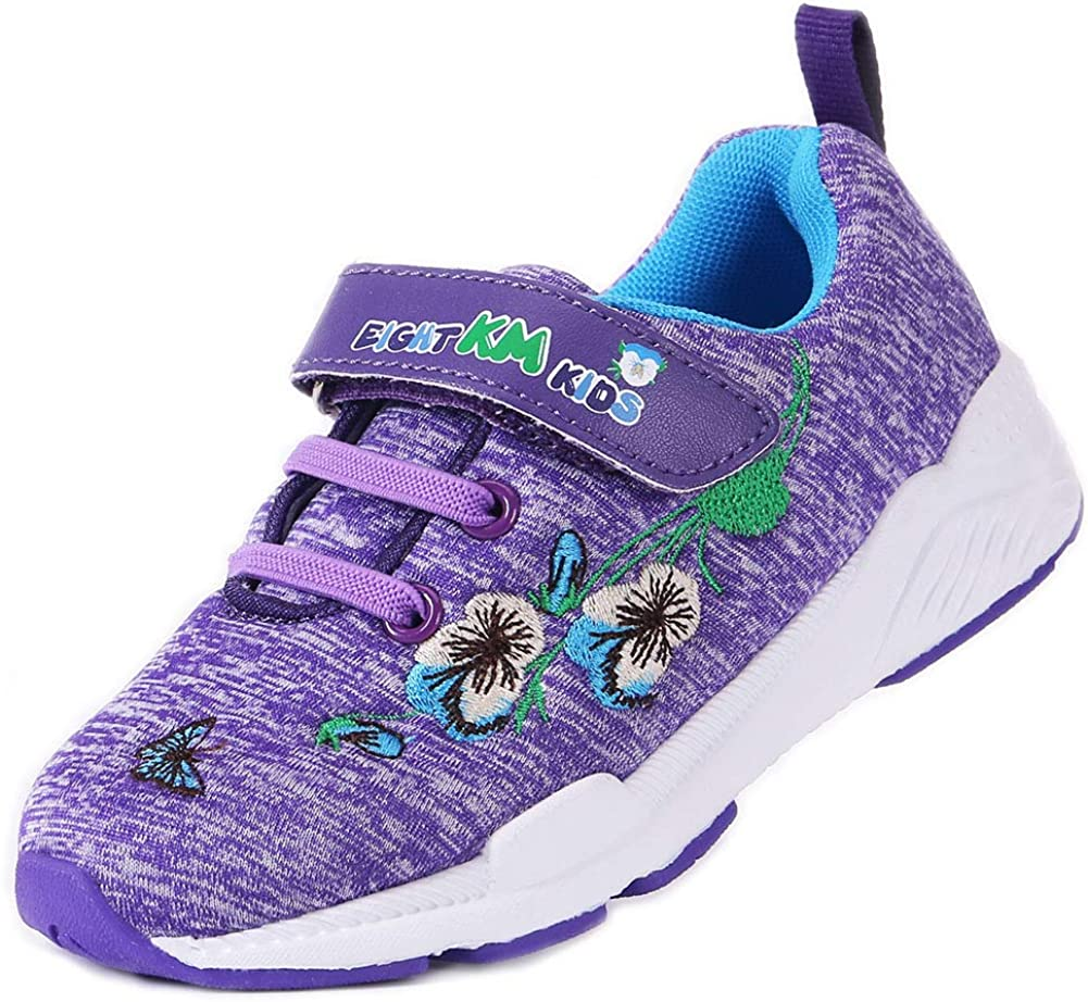 EIGHT KM Toddler/Little Kid Girls Shoes Breathable Flower Sneakers