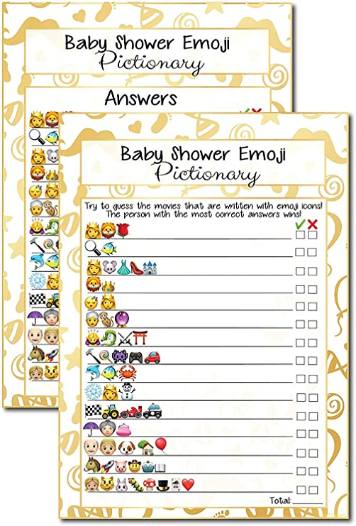 Baby Shower Celebrity Baby Name Guessing Game PRINCESS 10 20 30 40 50 Players