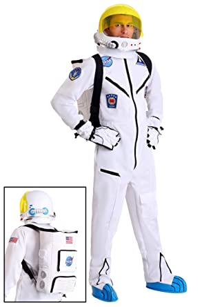 5c9a2d220c50 Amazon.com  Adult White Astronaut Jumpsuit Costume  Clothing