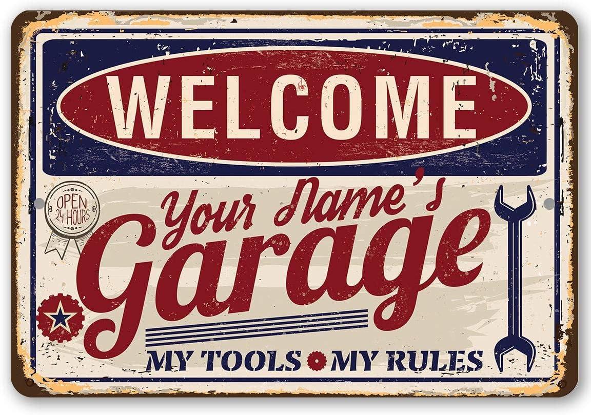 Tout personnalisé nom mots Signe Plaque extérieur jardin//den bar garage Shop