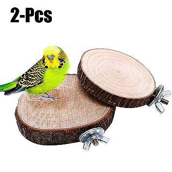 Legendog 2PCS Plataformas De Jaula Soportes De Madera para Pájaros ...