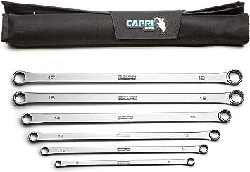 Capri Tools 14 x 15 mm 0 Degree Offset Extra Long Box End Wrench
