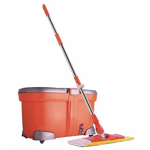 9 opinioni per CleanAid BigFlat Mop: Set Spazzolone lavapavimenti, riguardoso della schiena