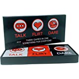 Fun and Romantic Game for Couples: Date Night Box Set with Conversation Starters, Flirty Games and Cool Dares - Choose from Talk, Flirt or Dare Cards for 3 Games in 1 - Great Gift For Him or Her! Original version