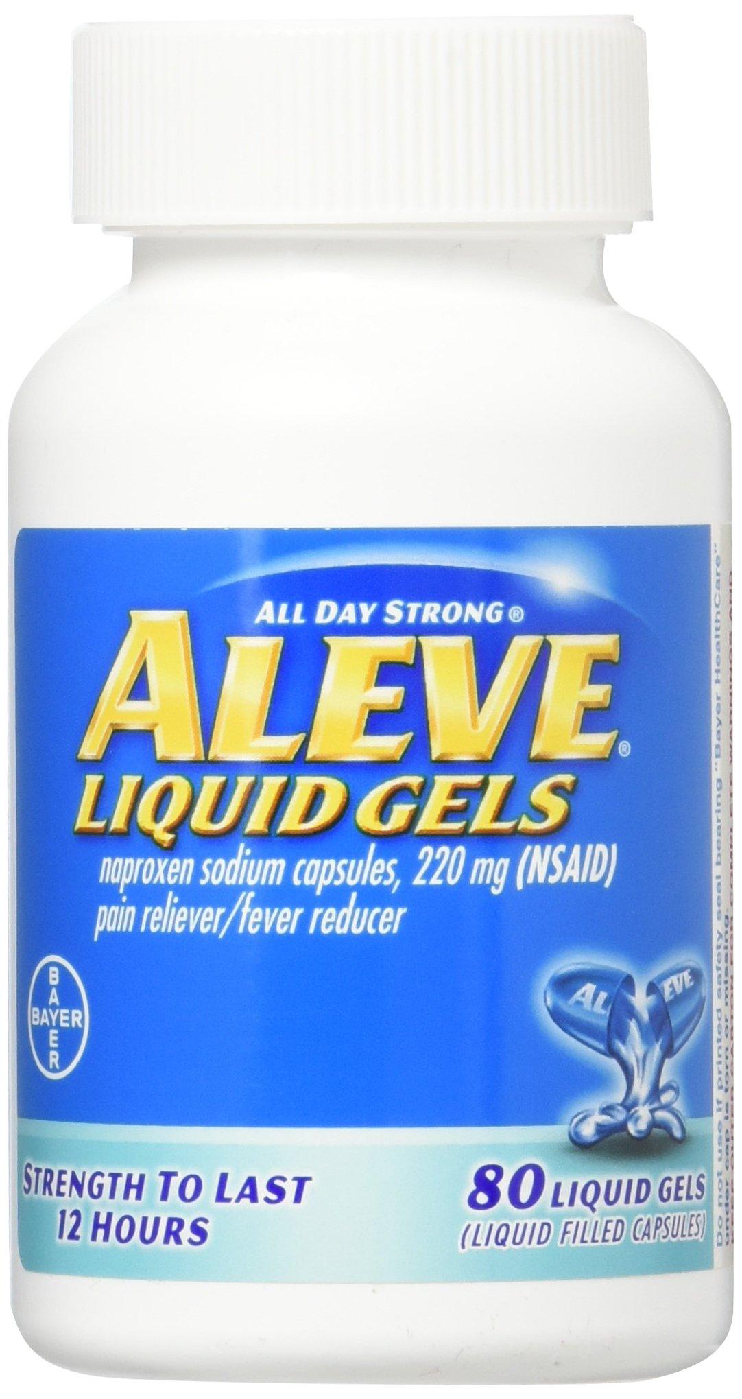 Aleve Liquid Gels, 80 ct