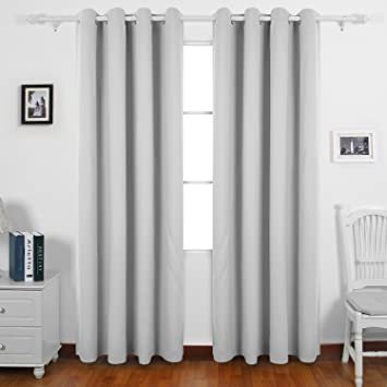Curtains Ideas boys eyelet curtains : Deconovo Super Soft Solid Thermal Insulated Blackout Window ...