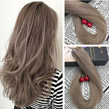 Amazon moresoo 14 inch skin weft hair extensions glue on 40 moresoo 14 inch skin weft hair extensions glue on 40 pieces 100 grams 18 ash pmusecretfo Image collections