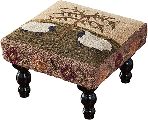 Park Designs Willow and Sheep Hooked Stool