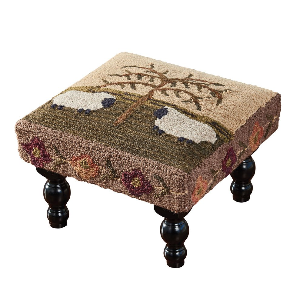Park Designs Willow and Sheep Hooked Stool by Park Designs