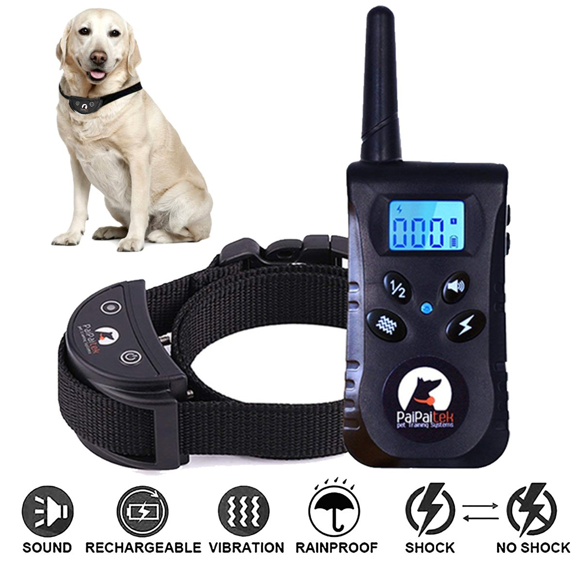 Dog Shock Collar,Dog Training Collar,Shock Collar Dogs,HerQueen Hihamer Small Medium Large Pet Remote(2018 Upgraded) 1800fts