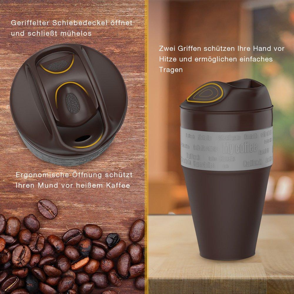 JerryBox Taza para llevar el Café, de silicona, plegable: Amazon.es: Hogar