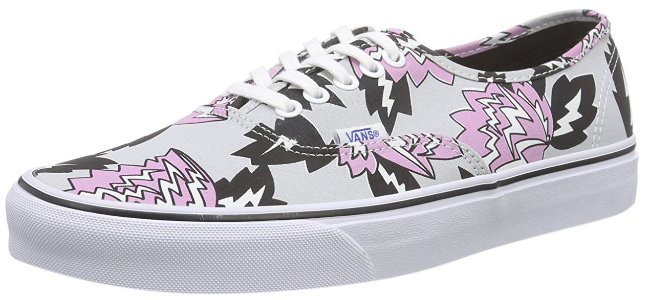 Vans Authentic - Zapatillas Unisex Adulto 36 EU|Gris Claro / Negro / Rosa