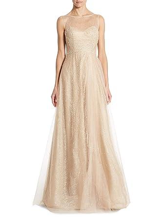 d4816bd24 Rene Ruiz Illusion Beaded Tulle Evening Gown Dress at Amazon Women's ...