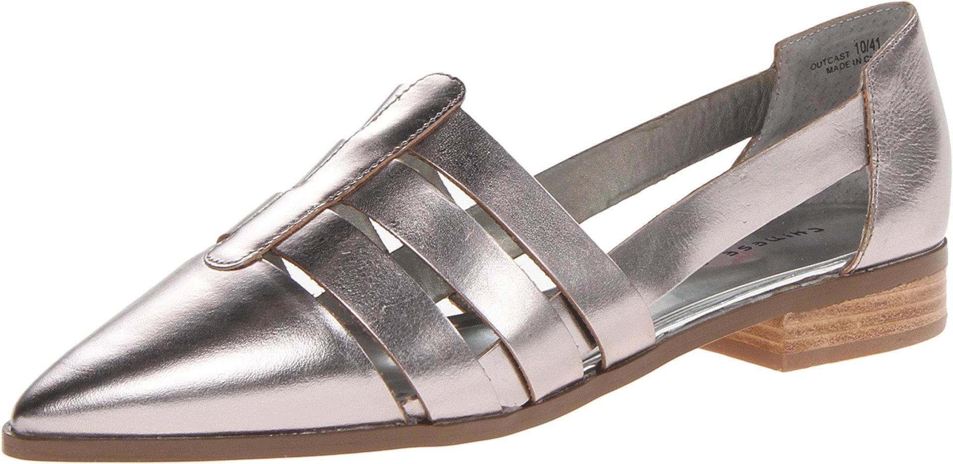 Chinese Laundry Women's Outcast Oxford, Silver/Glass Leather, 6 M US