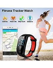 Tipmant Orologio Fitness Tracker Uomo Donna Smartwatch Bracciale Cardiofrequenzimetro da Polso Impermeabile IP68 Contapassi Smartband Sportivo Braccialetti per Android iPhone Samsung Huawei Xiaomi