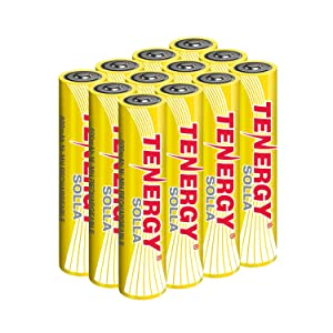 Tenergy Solla AAA Rechargeable NiMH Battery, 600mAh Solar Batteries for Solar Garden Lights, Outdoor Patio, Anti-Leak, Outdoor Durability, 5+ Years Performance, 12 PCS, UL Certified