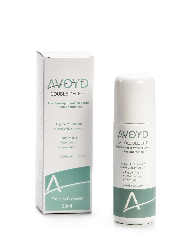 AVOYD Double Delight 90ml, avoids ingrown hair, razor burn and razor bumps + reduces pigmentation CRT Emotions