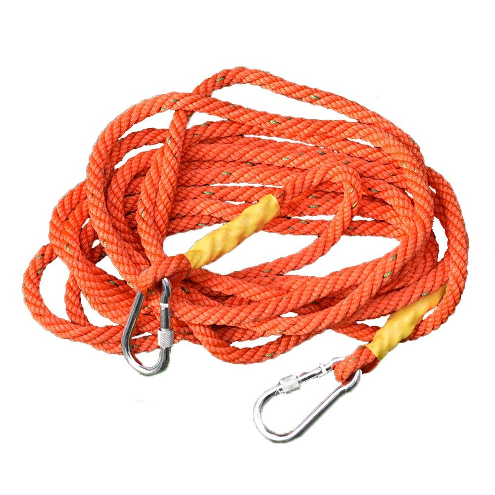 DDSS safety rope Aerial Work Rope Air Conditioning Installation Exterior Wall Protection Rope Rescue Rope High-Rise Sling Nylon Rope, Orange 16mm, 15 Sizes /-/ (Size : 90M)