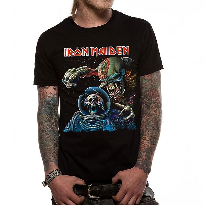 2a88e09f Official License Iron Maiden Final Frontier Album Men's T-Shirt:  Amazon.co.uk: Clothing