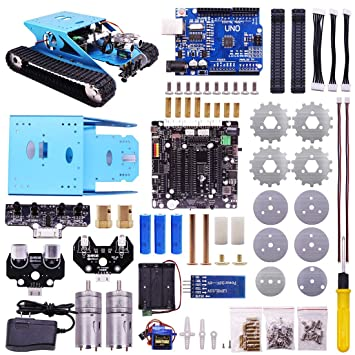 Riva776yale Diy Track Robot Kit Pour Arduino Uno R3 Robot