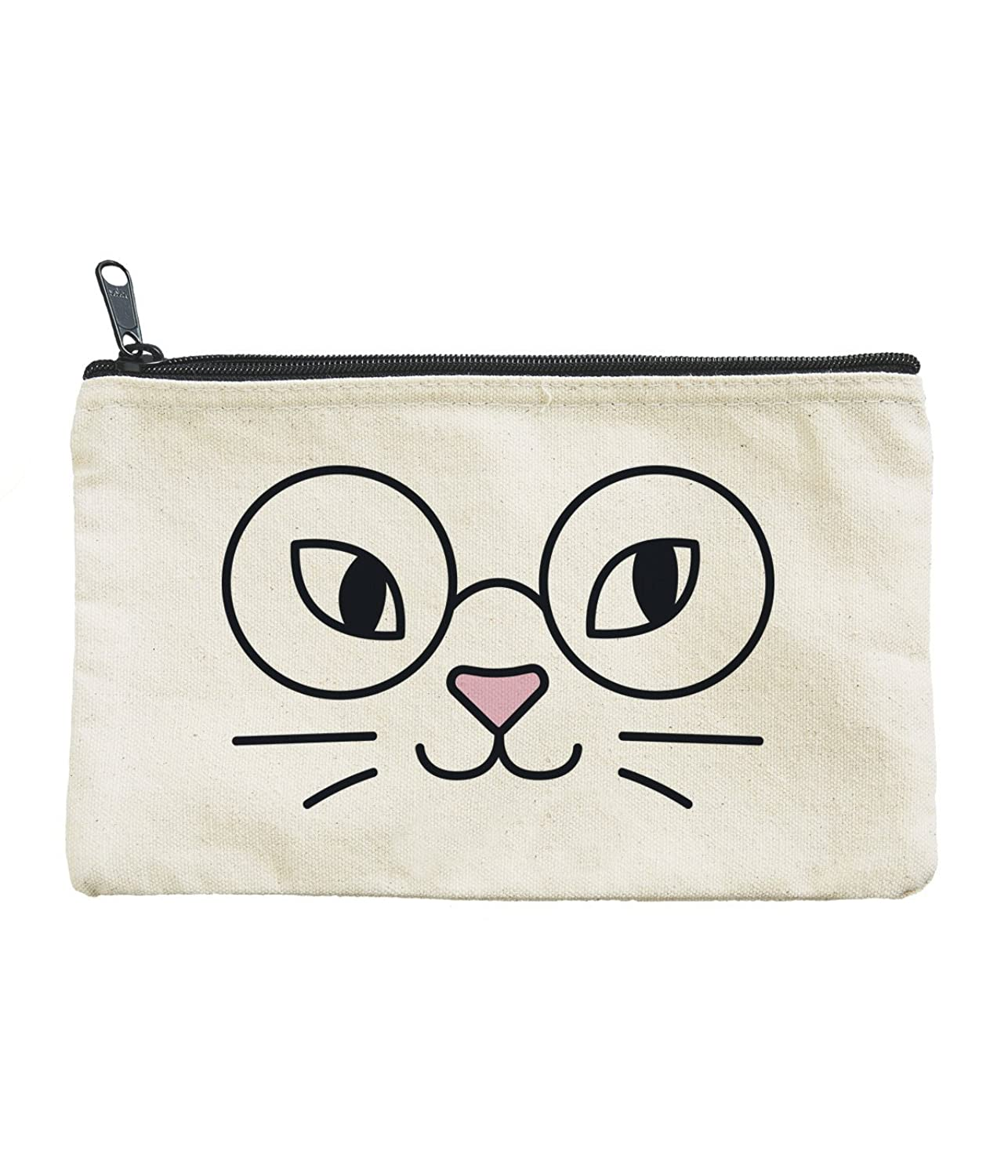 """""""Cat Glasses"""" Canvas Zipper Pouch - So Many Uses"""