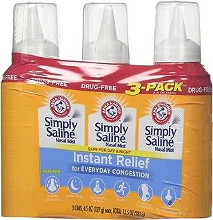 product image for Arm & Hammer Simply Saline Nasal Relief Mist Spray- Giant Size - 4.25 FL OZ Per Bottle (3 Bottles)